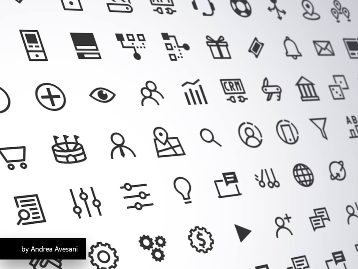 Icons Font by Andrea Avesani
